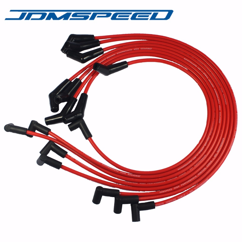 427 Gm Hei Wiring Schematic Diagram Electronic Connector Free Picture Shipping Jdmspeed Red Spiral Core Spark Plug Wires 45 Rhaliexpress