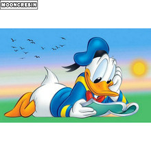 5D Diy Diamond Painting Donald Duck Mosaic Diamond Art Gift Cross Stitch Diamond Embroidery Full Rhinestones Cartoon Decor Home(China)