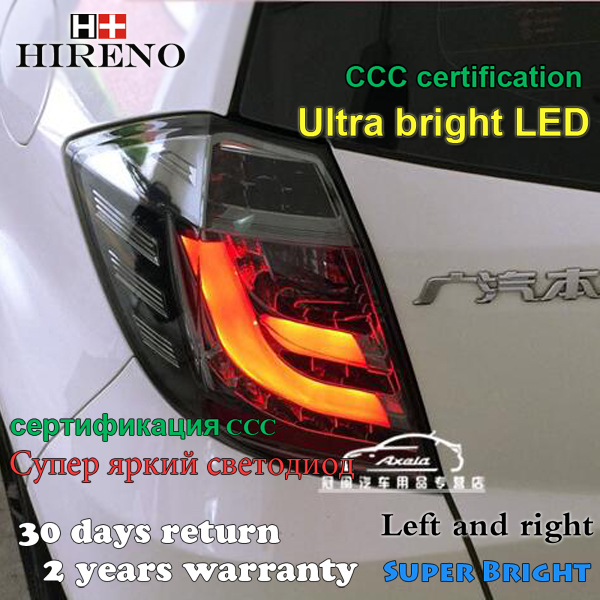 Hireno Tail Lamp for Honda FIT JAZZ 2008 2009 2010 2011 2012 2013 LED Taillight Rear Lamp Parking Brake Turn Signal Lights high quality aluminum canvas black rear cargo cover fit for nissan x trail 2008 2009 2010 2011 2012 2013