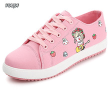 Sneakers Women Shoes Woman Platform Canvas Casual Lolita Cute Cartoon Shoe Tenis Feminino Tufli