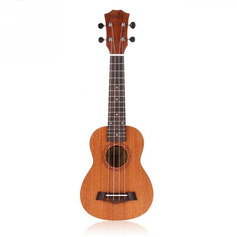 21 Inch Student Soprano Ukulele Sapele Wood 4 String