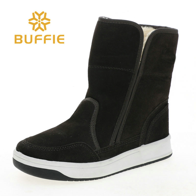 cow suede upper boots fake fur insole only one pair in size 38 sample shoes selling warm boots lady style women wear brown color brown black women in america paper only