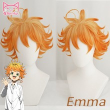 Ltd peruca para cosplay de anime yakusoku no neverland, peruca feminina laranja, cosplay 63194