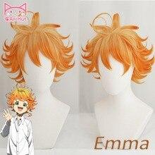 Peluca de Cosplay de Emma para mujer, peluca de Cosplay de Anime de Yakusoku no Neverland para mujer, Cosplay naranja 63194 The promided Neverland Emma
