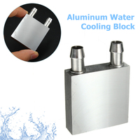 Water Cooler Primary Aluminum Water Cooling Block 40*40mm For Liquid Heat Sink System Silver Use For PC Laptop CPU