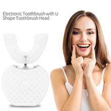 360 Degrees Intelligent Automatic Sonic Electric Toothbrush U Type 4 Modes Tooth Brush USB Charging Teeth Whitening Blue Light