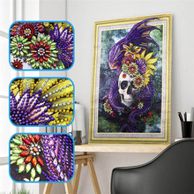 5d DIY Diamond Embroidery Special Shape Taro Embroidered Rhinestone Crystal Painting Home Decoration 40x50cm