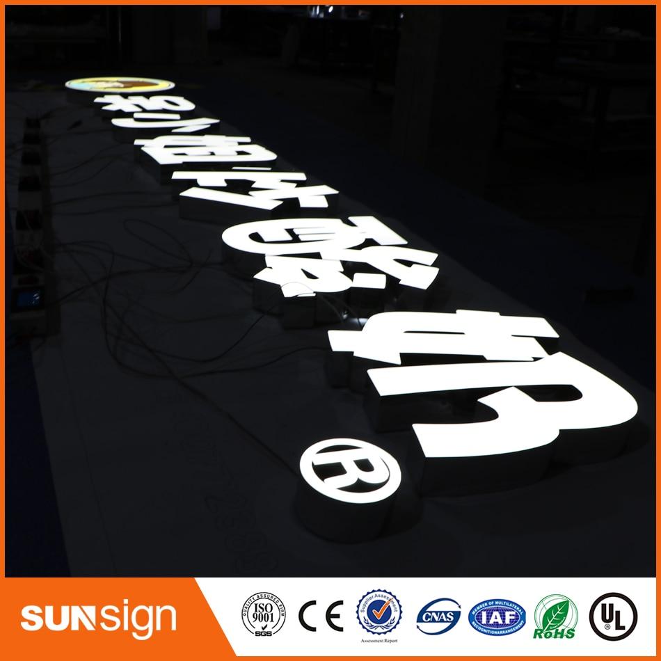 LED Advertising Frontlit 3D Letters Plexiglass Letters