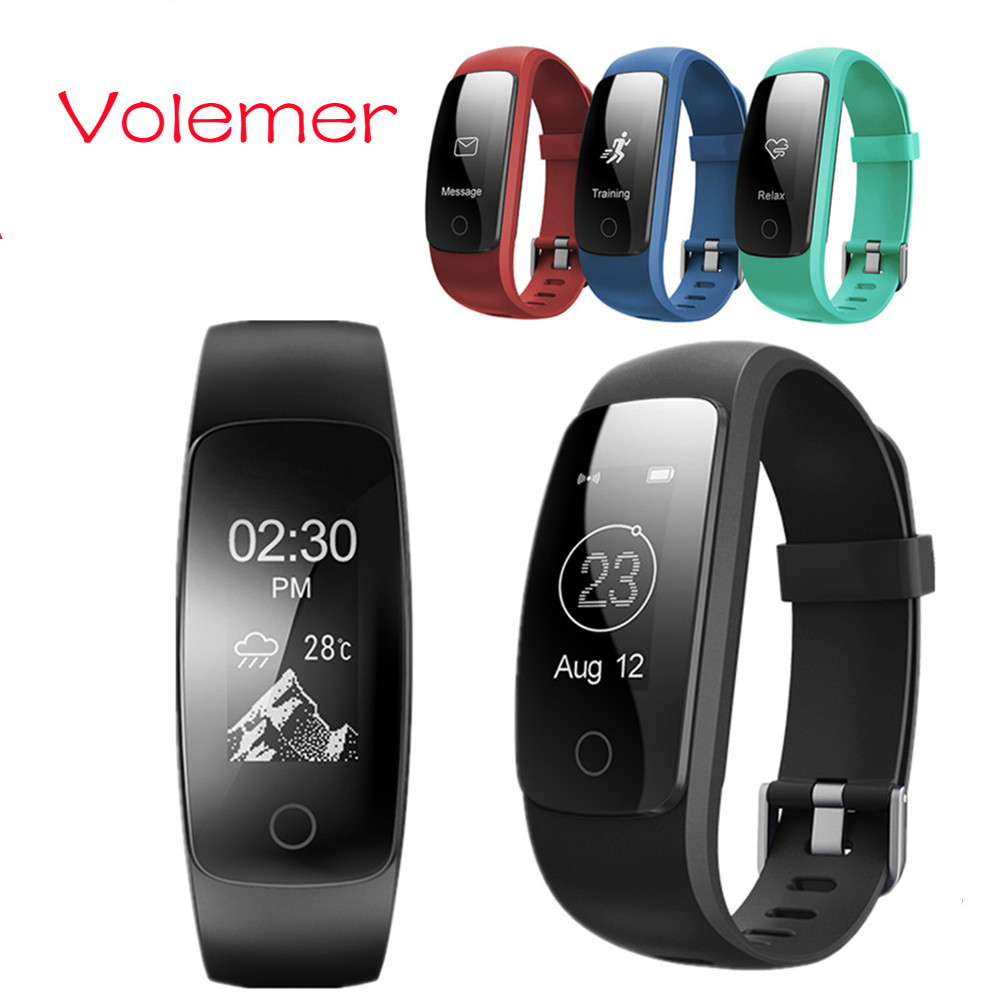 Volemer GPS Smart Band ID107 Plus Fitness Bluetooth Bracelet Activity Sports Tracker Wristband with Heart Rate