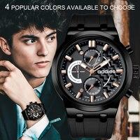 Luxury Relogio masculino business men wristwatch mens quartz clock 50M waterproof military business wristwatches Addies watch