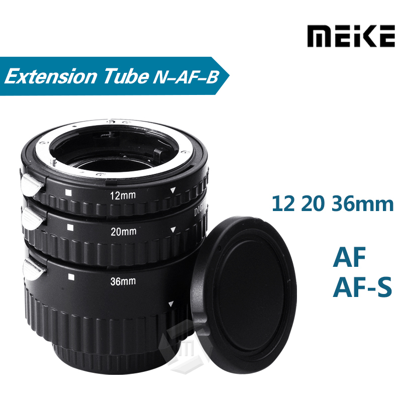Meike N-AF1-B macro anillo tubo de extensión para Nikon D7100 D7000 D5100 D5300 D3100 D800 D600 D300s D300 D90 d80