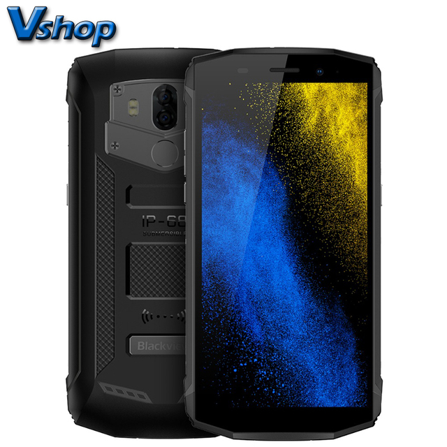 Blackview BV5800 Smartphone 5.5″ HD+ MT6739 Quad Core Mobile Phone 5580mAh Battery 5V/2A Quick Charge 2GB+16GB NFC 4G Cell phone
