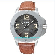 Sapphire crystal 47 mm PARNIS Japanese Automatic Self Wind movement men watches Mechanical Wristwatches High quality