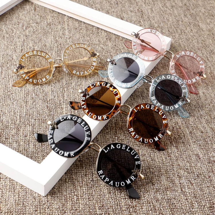 2019 New Infant Kids Baby Girls Boys Fashion Sunglasses Letter Solid Hot Sun Glasses 7 Colors