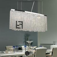 Crystal Restaurant Chandelier Nordic Modern Art Table Rectangular Chandeliers Round Bar Simple LED Crystal Chandelier