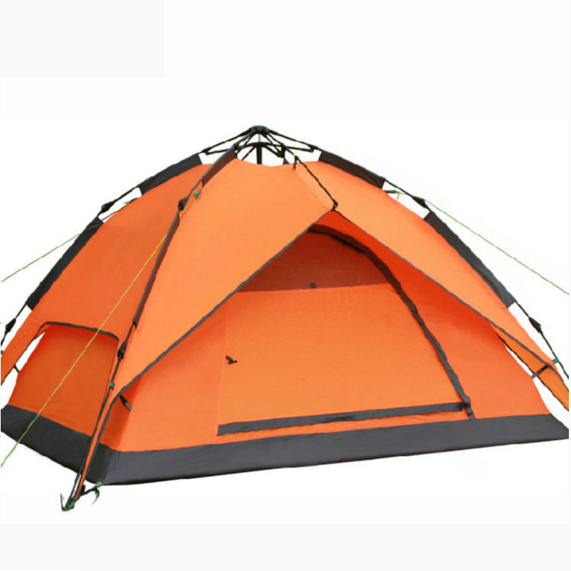 2018 New Arrival 3-4 person Tents Hydraulic Automatic Windproof Waterproof Double Layer Tent Outdoor Hiking Camping Tent mobi outdoor camping equipment hiking waterproof tents high quality wigwam double layer big camping tent