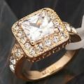 B1-r456 italina rigant anillo de compromiso de la boda de moda nupcial cz rhinestone 18kgp joyería tamaño 5.5-10