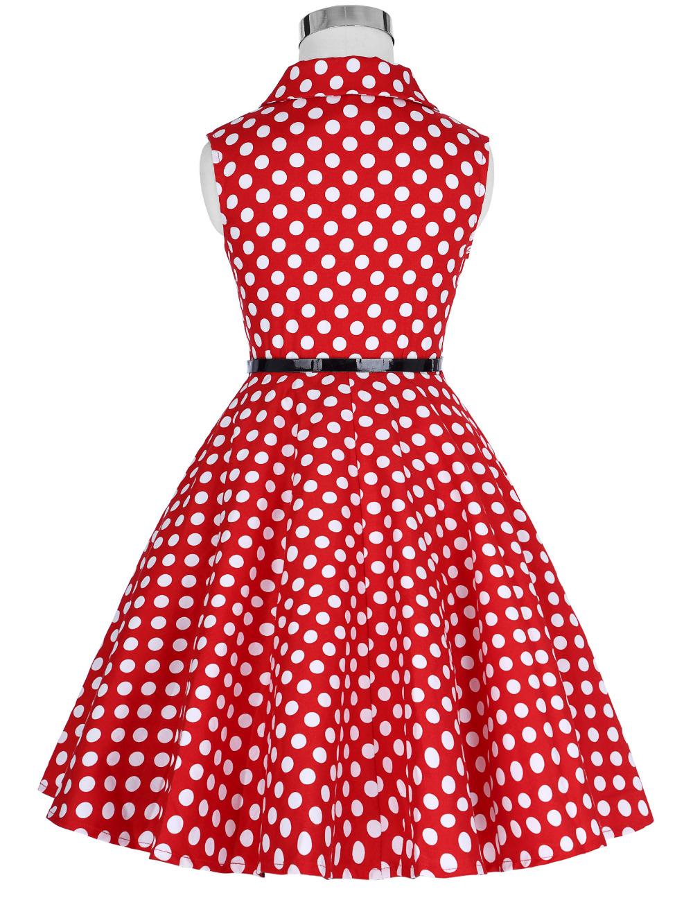 Grace Karin Flower Girl Dresses for Weddings 2017 Sleeveless Polka Dots Printed Vintage Pin Up Style Children's Clothing 18