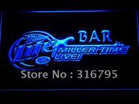 409 Czas Na Żywo Bar Piwny LED Neon Sign Miller z On/Off Przełącznik 20 + Kolory 5 Rozmiary do wybierz