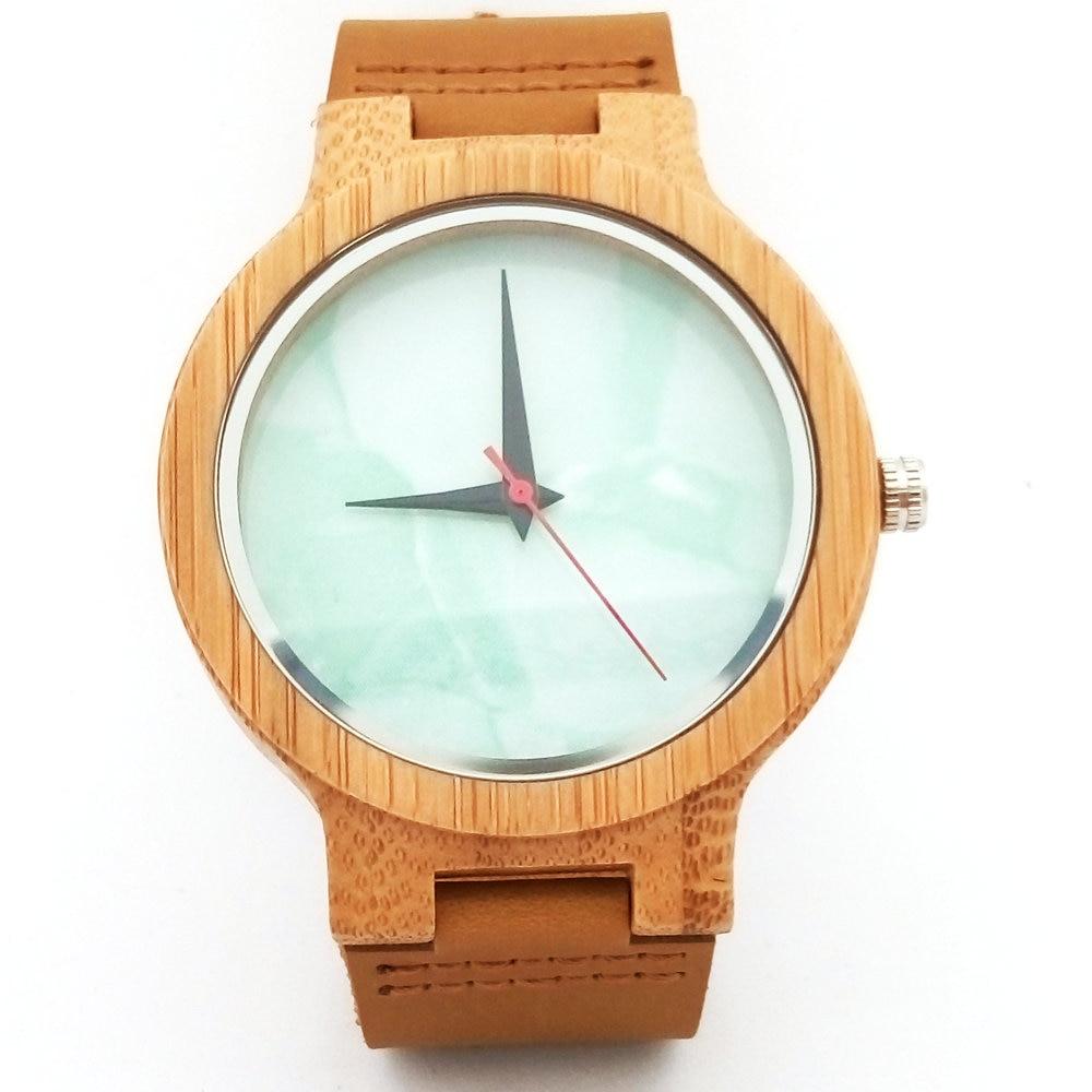 Բամբուկե փայտյա ժամացույցներ - Կանացի ժամացույցներ - Լուսանկար 1