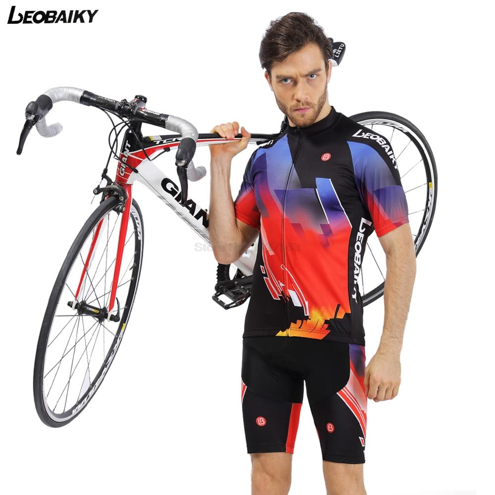 LEOBAIKY 2017 Summer Cycling Jersey Set Short Sleeve Clothing MTB Bicycle Clothes Maillot Ropa Ciclista Bike Jerseys Sportswear cycling jersey 176 hot selling hot cycling jerseys red lily summer cycling jersey 2017 anti shrink compressed femail adequate qu