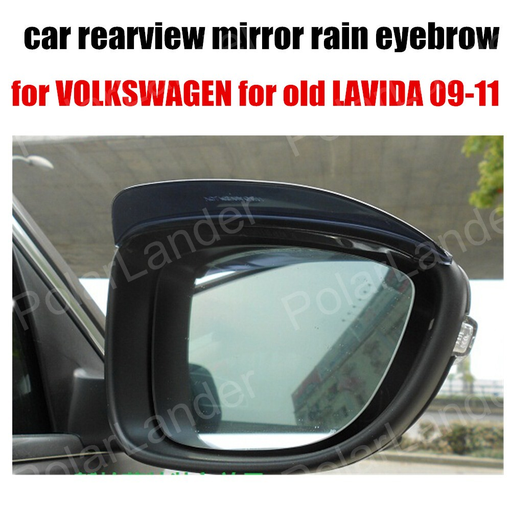 2pcs/lot Car Accessory For Volkswagen For Old Lavida 09-11 Rearview Mirror Rain Eyebrow Covers Anti-rain Shade Shelter Stickers Beautiful In Colour Back To Search Resultsautomobiles & Motorcycles Exterior Accessories