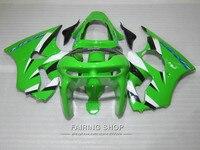 High quality fairings For Kawasaki ZX6R 1998 1999 98 99 green black ninja zx6r fairing kit OI19