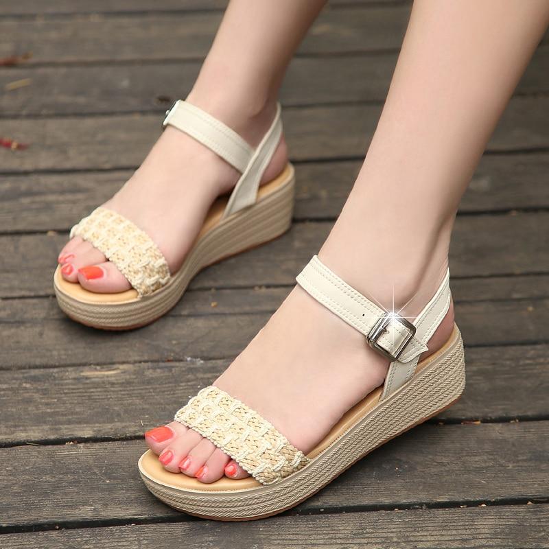 HEFLASHOR Sandalias Mujer 2019 Summer Platform Sandals