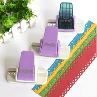 DIY Scrapbooking Paper Cutter Decorative Flower Edge Hole Punch Embossing Stationary For Kids Creative Gift Handmade