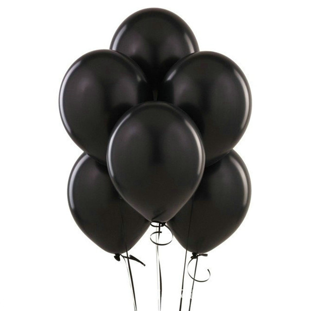 Black Latex Balloons 10 pcs/lot