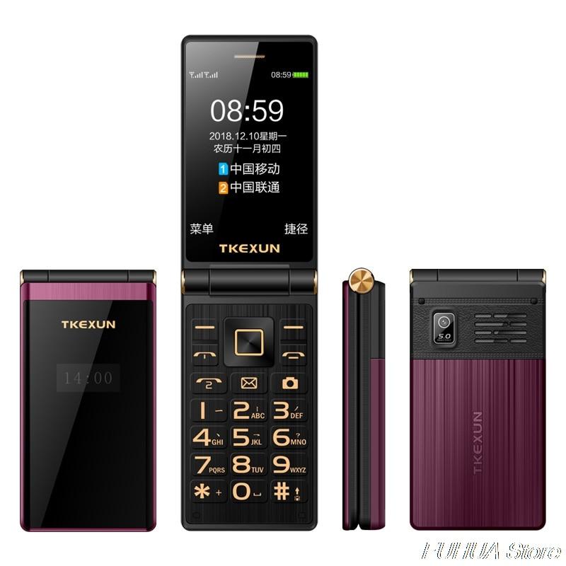 TKEXUN M2 PLUS 3.0 ''grande clé police écran tactile 3G WCDMA téléphone Mobile téléphone une clé cadran vieil homme Celulares PK G10 FM - 5