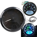 Universal 12000rpm KMH/MPH LCD Display Digital Speedometer Odometer 1-4 Cylinders ODO TRIP Gauge for KTM Sport Bike Superbike
