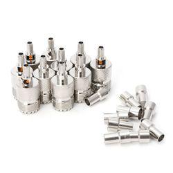10 zestawów/paczka UHF żeńskie gniazdo SO239 zaciskane złącze RF Adapter koncentryczny dla RG58 RG142 RG400 LMR195 kabel w Złącza od Lampy i oświetlenie na