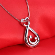 mother's day pendant necklace Love Heart  choker women Silver Plated Necklace Mother Girl Gifts for Mom Jewelry dropshipping