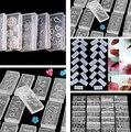 3d Акриловых Ногтей Резьба Плесень Nail Art Шаблона различные Конструкции Картины Украшения DIY Кремния Гель для Наклейки Оптовая