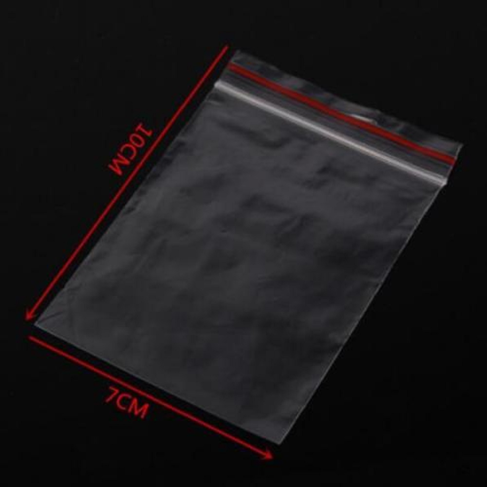 100 Pcs Heißer Clip Wiederverschließbaren 10x7 Cm Dichtung Pop Zip-lock Klaren Kunststoff Taschen Einkaufstaschen Wir Nehmen Kunden Als Unsere GöTter