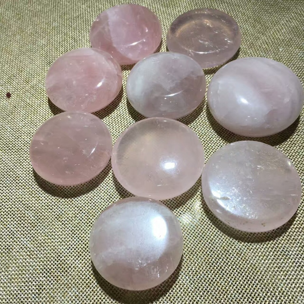Wholesale Natural Pink Crystal Wafer Stones Rock Mineral Specimen Planting Aquarium Fish Tank Decor Stone Crafts