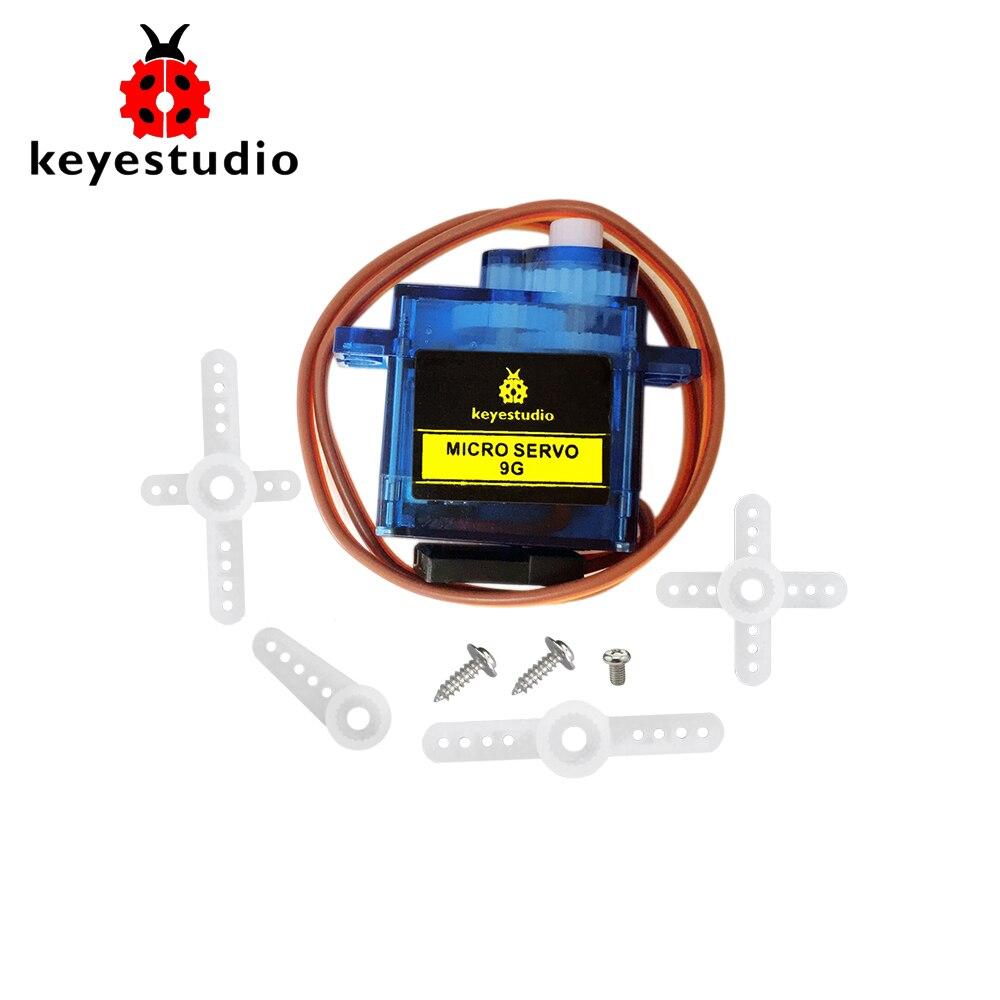 1 Stks Keyestudio 9g Mini Sg90 90 Graden Servo Motor Blauw Met Ph2.54 Connector Voor Arduino Robot Auto Fijn Verwerkt