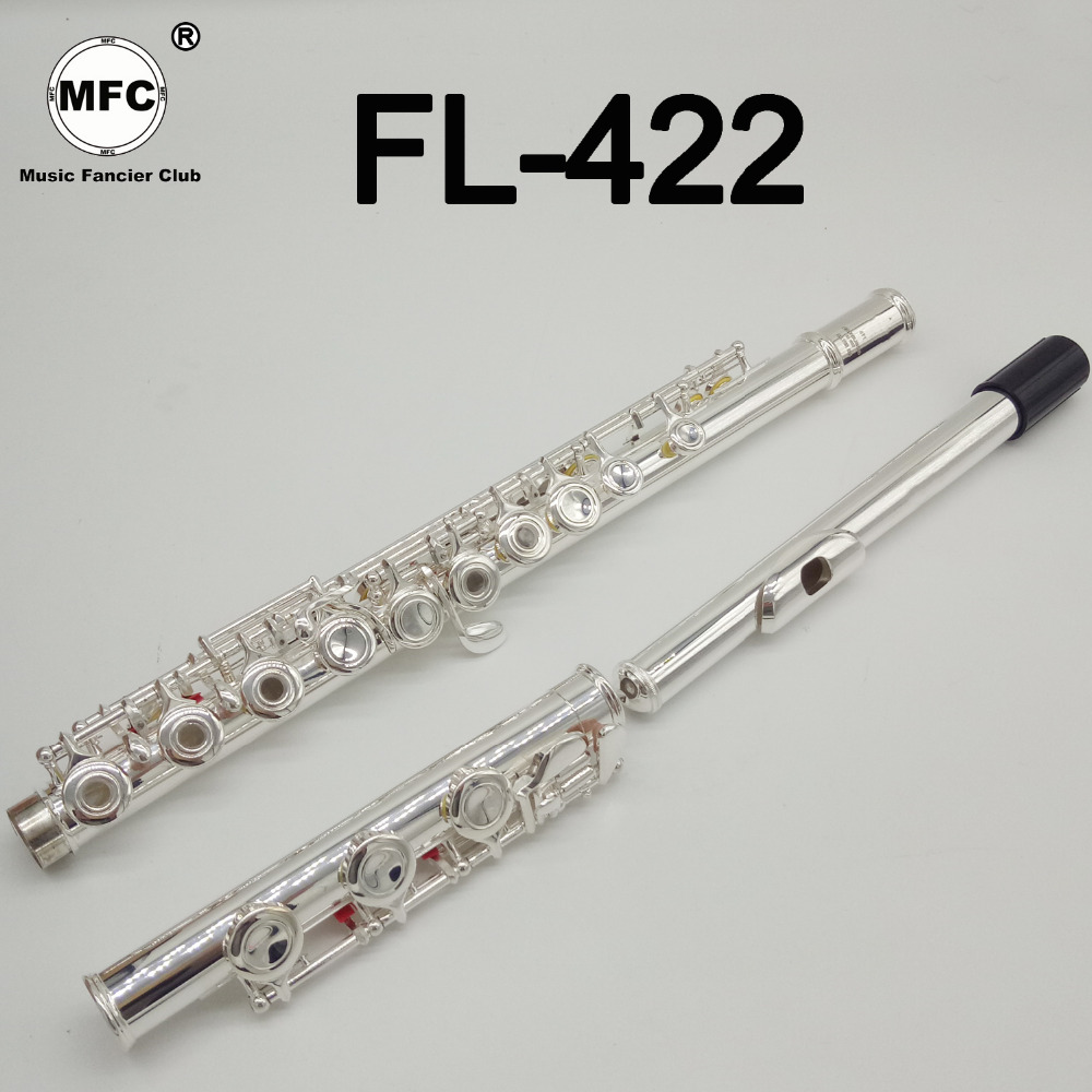 Music Fancier Club Intermediate Standards Flute FL-422 Student Flutes Silver Plated 16 17 Holes Closed Open Hole With CaseMusic Fancier Club Intermediate Standards Flute FL-422 Student Flutes Silver Plated 16 17 Holes Closed Open Hole With Case