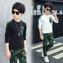 Boy Tracksuit Clothes set Kids Spring&Autumn Cotton School Uniform Sport camouflage Suit Boys Clothing Sets