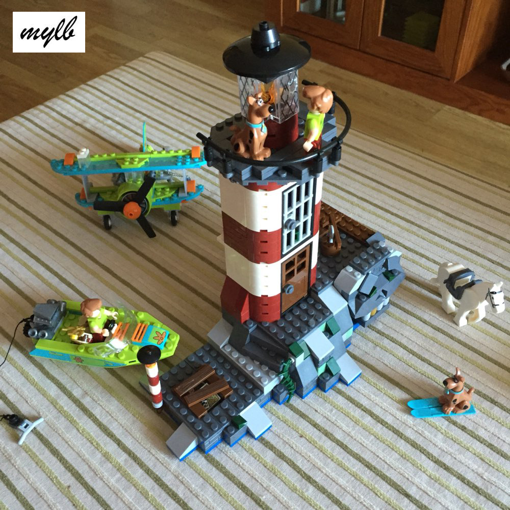 mylb New 437pcs Haunted Lighthouse Scooby Doo Model Bricks Blocks 3D Kids Toy Gifts Compatible with DIY kokko frb2 mini space pedal portable guitar effect external ac adapter delivering 9v dc regulated guitar parts