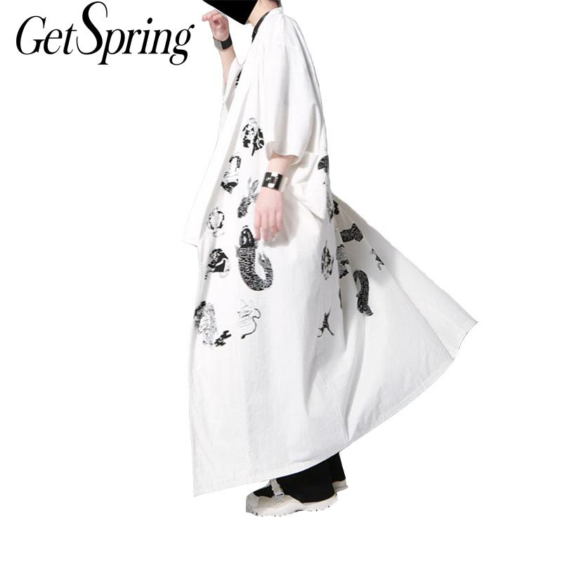 Robe Coat Summer Wind-Printing Loose Women Brand Tide with The Same Paragraph 2-Color