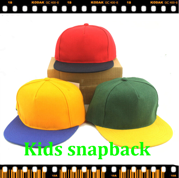 Free shipping OEM LOGO 5 colors available new fashion blank hats wholesale  custom Baseball Cap 5 panel hats kids snapback-in Hats   Caps from Mother    Kids ... bf2190f2c2a