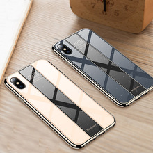 Luxury Phone Case for iphone X XR XS MAX Cover Armor Shockproof plating TPU+PC Glass Mirror Back Cover for iPhone XR XS Max Case luxury phone case for iphone x xr xs max cover armor shockproof plating tpu pc glass mirror back cover for iphone xr xs max case