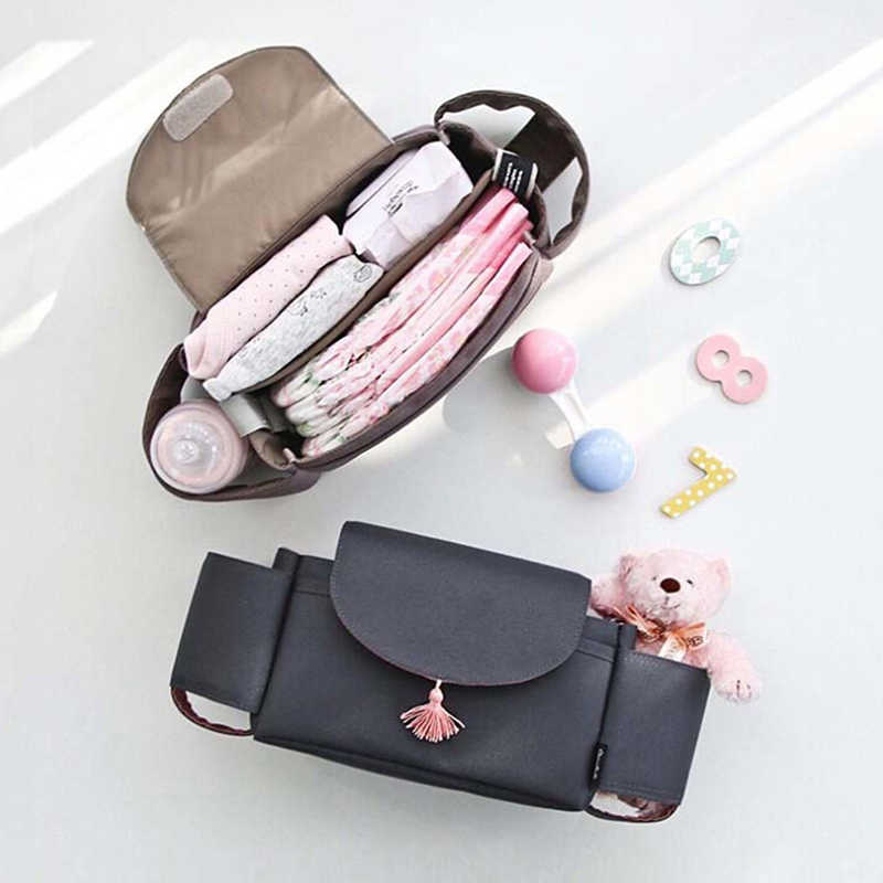 Fashion New Hot Large Capacity Baby Stroller Hanging Bag Multi-function Diaper Nappy Milk Bottle Storage Bag Trolley Mummy Bags