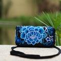2016 Original nacional saco bordado Floral bolsa de Ombro bordado saco Do Mensageiro saco Pequeno Embreagem Telefone Carteira Sacos de Moedas