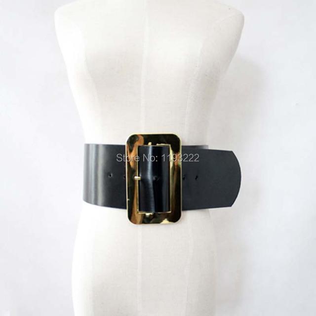 Mujeres Cool Girl Dancer estudio Deco artesanal hebilla cuadrada cinturón ancho correas de cintura de cuero elfo Bogy cinta Bondage