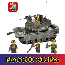 Model building kit compatible with lego military Main Battle Tank 3D blocks Educational mo