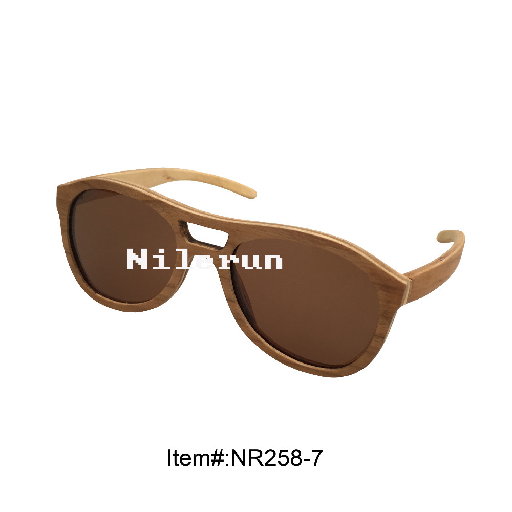 large brown composite wood sunglasses