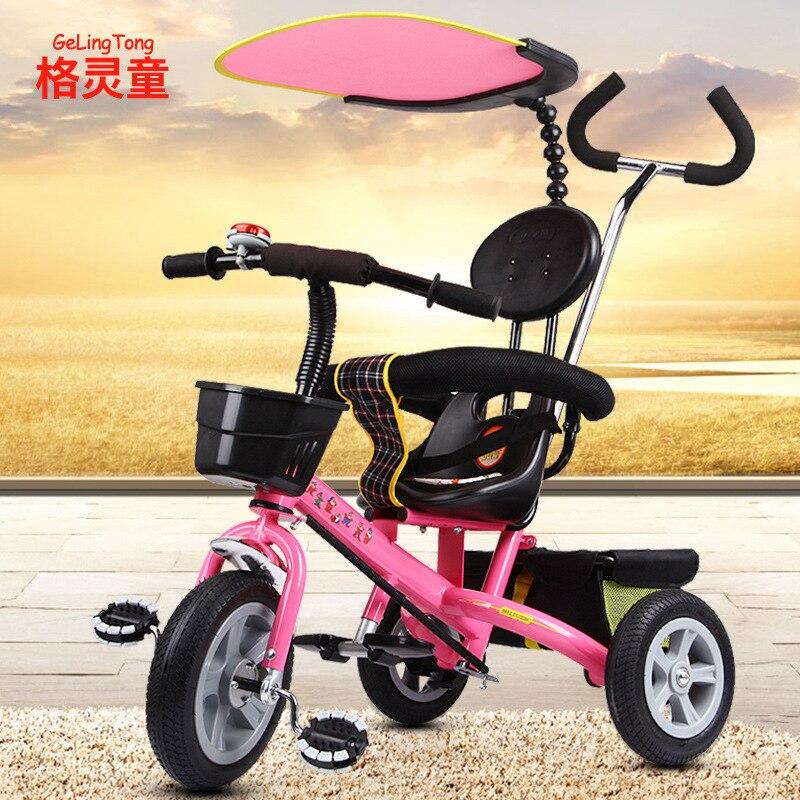 Garçon fille enfants Tricycle 1-6 ans vélo jardin panier enfant bébé chariot enfants vélo Bmx Sepeda mode nouveau